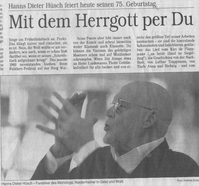 E Mail Anfragen Und Infos 45 Hanns Dieter Hüsch